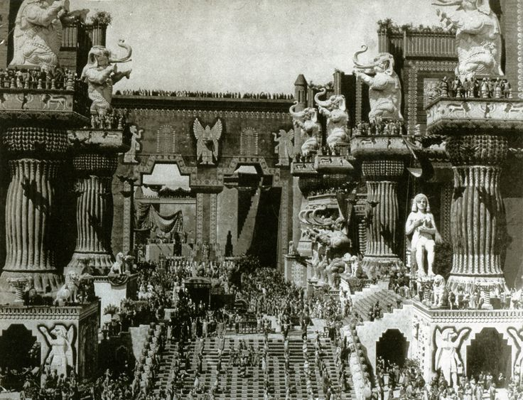 One of the most extraordinary sets ever built in Hollywood.   D.W. Griffith's vision of Babylon for his epic Intolerance 1916.