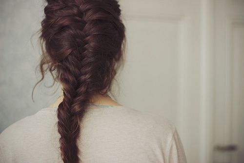 I love fishtail braids, but can't manage to do one so high up on my head or so tightly- this is beautiful!
