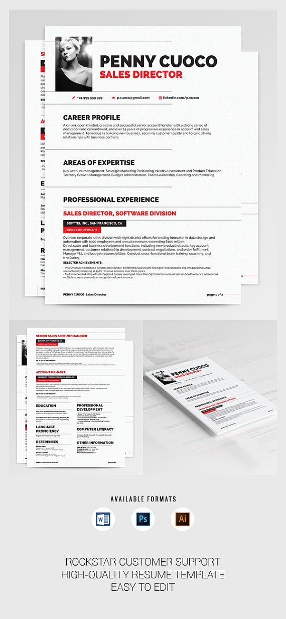 Hervatten Auriage professioneel CV sjabloon door BeautifulResumes