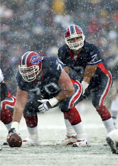 Buffalo Bills in the snow I've bben at a snowy game down with the shirtless lOders