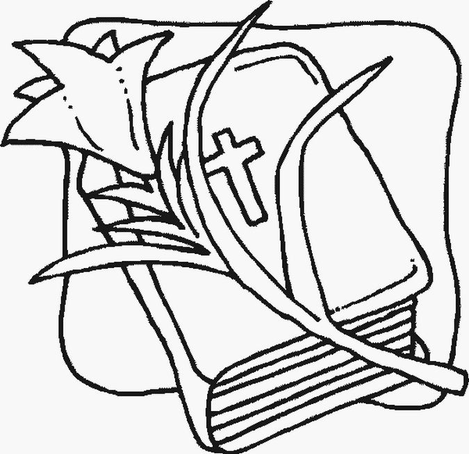 Easter Lily Amp Bible Coloring Page