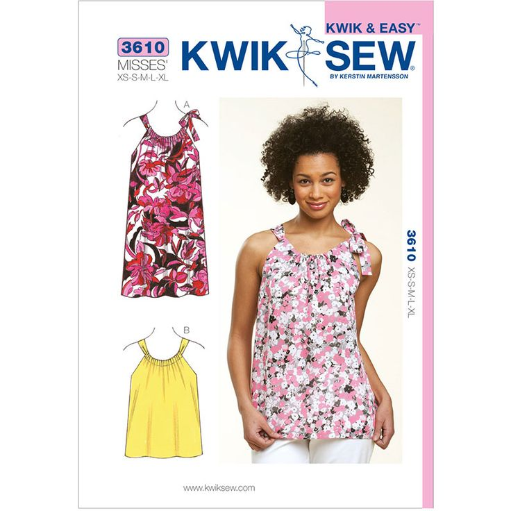 Misses Top and Dress Kwik Sew Sewing Pattern No. 3610