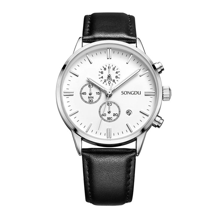 SONGDU Fashion Luxury Luminous Genuine Leather Men Casual Watch Quartz Chrono 30M Water-Proof Business Wristwatch + Box http://fas.st/vXZkLX