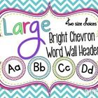 This packet contains bright chevron large word wall headers (A to Z) in two sizes: 7 inch and 5 inch.   I sell the coordinating word wall cards in ...