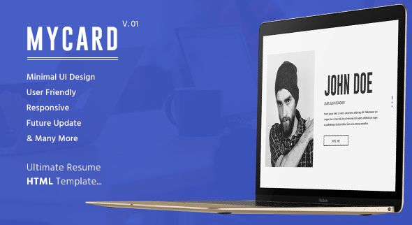awesome MyCard Ultimate Resume HTML Template (Virtual Small business Card)