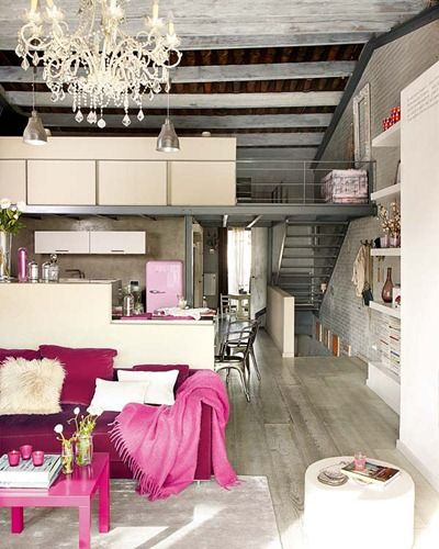 Pink accents---love this