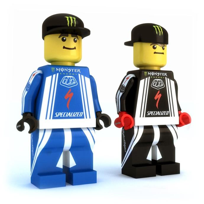 Sam Hill and Brendan Fairclough + Lego. Nice.