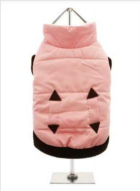Practical and fashionable in girly pink trimmed with a dark brown elasticised ribbed hem for a nice neat fit. The soft fleece lining will certainly keep your pup snug and warm.