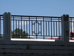 art deco railings | Below the road level, the bridge looks a bit sad but the elegant lines ...