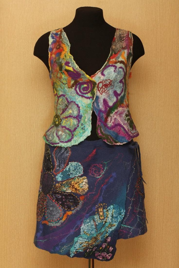 Imaginarium / Felted Clothing / Vest & Skirt. $500.00, via Etsy.