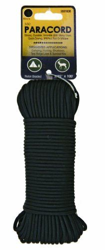 Koch Industries 550 Paracord 5/32 Inches by 100 Feet, Black, Hank Koch Industries  Koch Industries 550 Paracord 5/32 Inches by 100 Feet, Black, Hank Koch Industries Strong and durable polyester line Quick drying and will not rot or mildew Great for camping, hunting, shoelaces, tarp ridge lines and much more Essential item for all survival kits Maximum load of 55 lbs  http://www.thecooktops.com/koch-industries-550-paracord-532-inches-by-100-feet-black-hank-koch-industries/