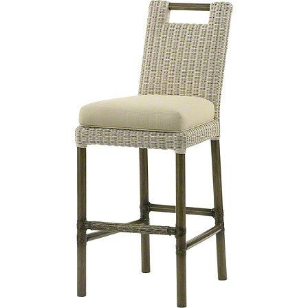 The Thomas Pheasant Woven Core Bar/Counter Stool makes an elegant statement as well as being versatile and comfortably scaled. It is offered in a woven leather version in addition to the woven rattan core version shown.