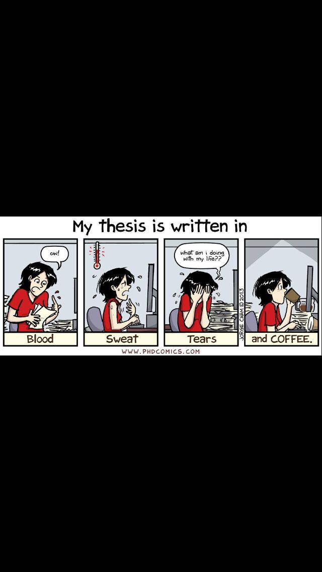 Thesis Writing Phd Comics Graduation