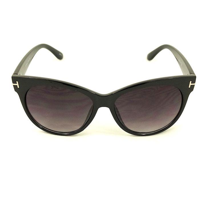 Black Catty Wayfarer Sunglasses