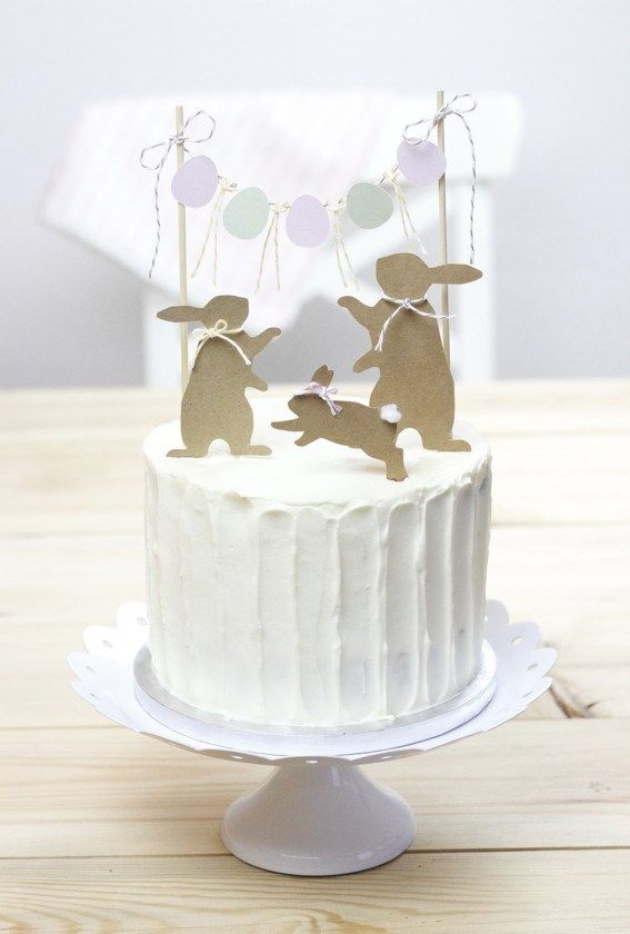 Silhouettes of any type as a cake topper ... I think I like it!