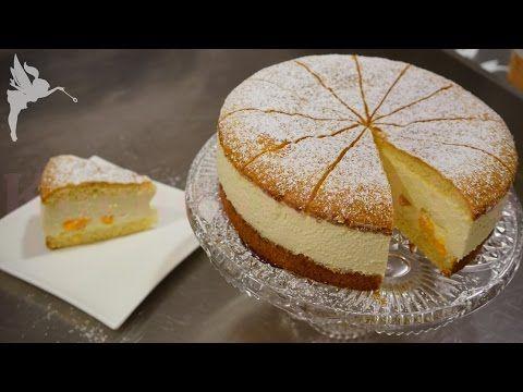Klassische Käsesahne Torte - Käse Sahne Torte mit Mandarinen - Klassiker...