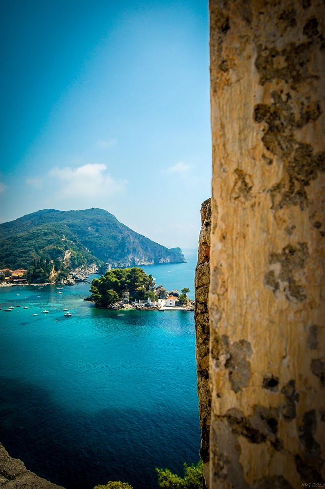 View to the sea, Parga, Greece.