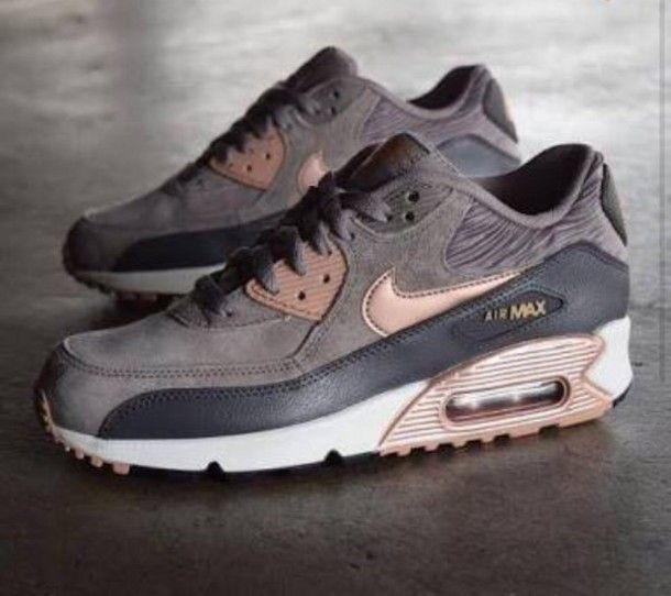 Shoes: nike air max 90 suede sneakers nike grey grey sneakers: I WANT THESE!!!! https://tmblr.co/ZmD_Wd2QMvZhb