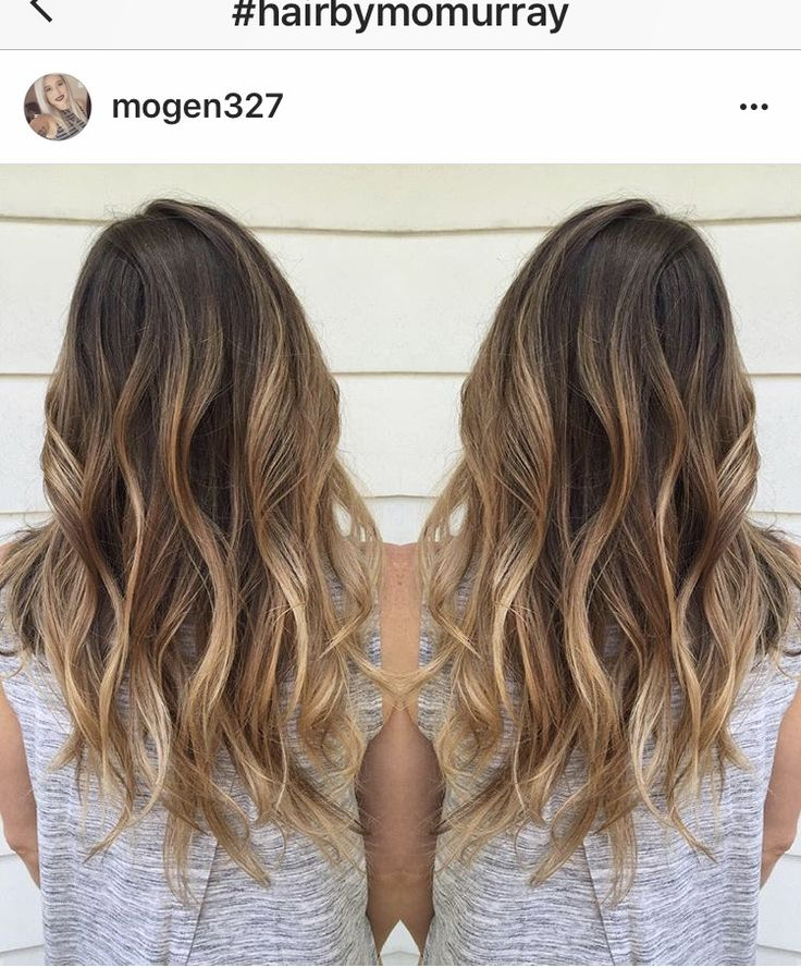 Sun kissed brunette, natural balayage hair