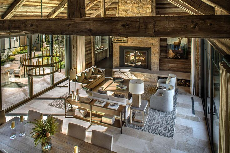 This breathtaking transitional style mountain home located in East Fork, Idaho, features meticulously designed details by Jennifer Hoey Interior Design.