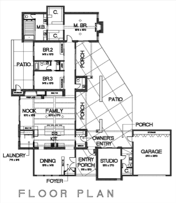 Cliff May Inspired Floor Plan