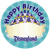 disneyland birthday button blank