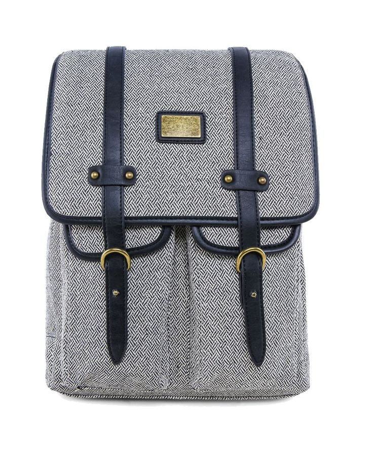 Square Shaped Canvas Square Shaped With Faux Leather by Zalora. Canvas backpack with one main compartment, zipper closure, front pocket, inner pocket, gadget sleeve, buckle clossure. Perfect for weekend holiday. Get yours now: