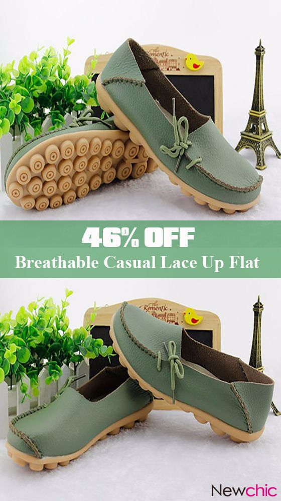 fd3e06564a3  Up to 46% off Big Size Pu Pure Color Soft Sole Breathable Casual Lace Up  Flat Shoes For Women.8 colors. colorful  pure