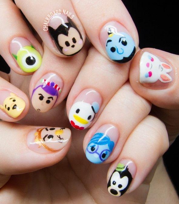 Disney Tsum Tsum Character Nail Art                                                                                                                                                                                 More