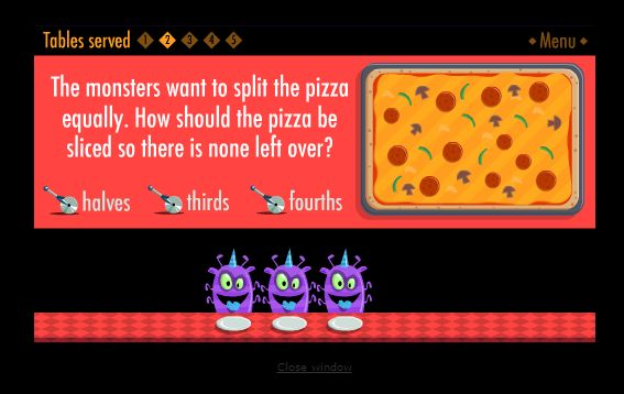 "In ""The Purple Pizza Eaters"" students help feed the hungry monsters..."