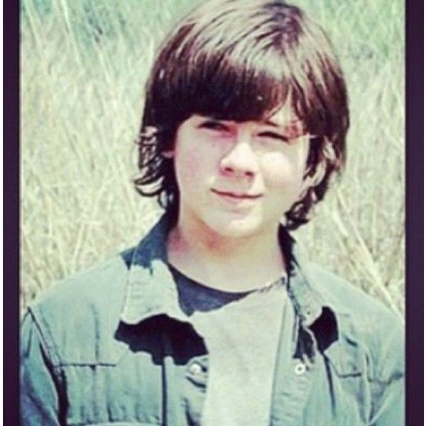 Hottest 13 year old Chandler Rigs ! ❤ liked on Polyvore featuring chandler riggs