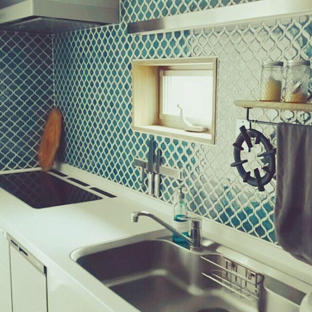 鍋敷き/IKEA/トリプルワイドIH/コラベル/キッチンのインテリア実例 - 2016-01-27 13:45:49   RoomClip(ルームクリップ)