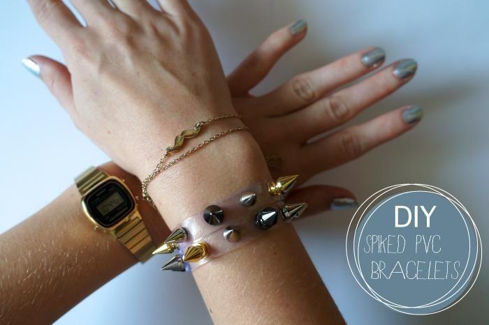 DIY Spiked PVC Bracelets DIY Jewelry DIY Bracelet