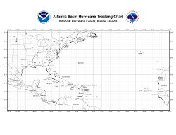 Atlantic Tropical Cyclone Tracking Chart - free download