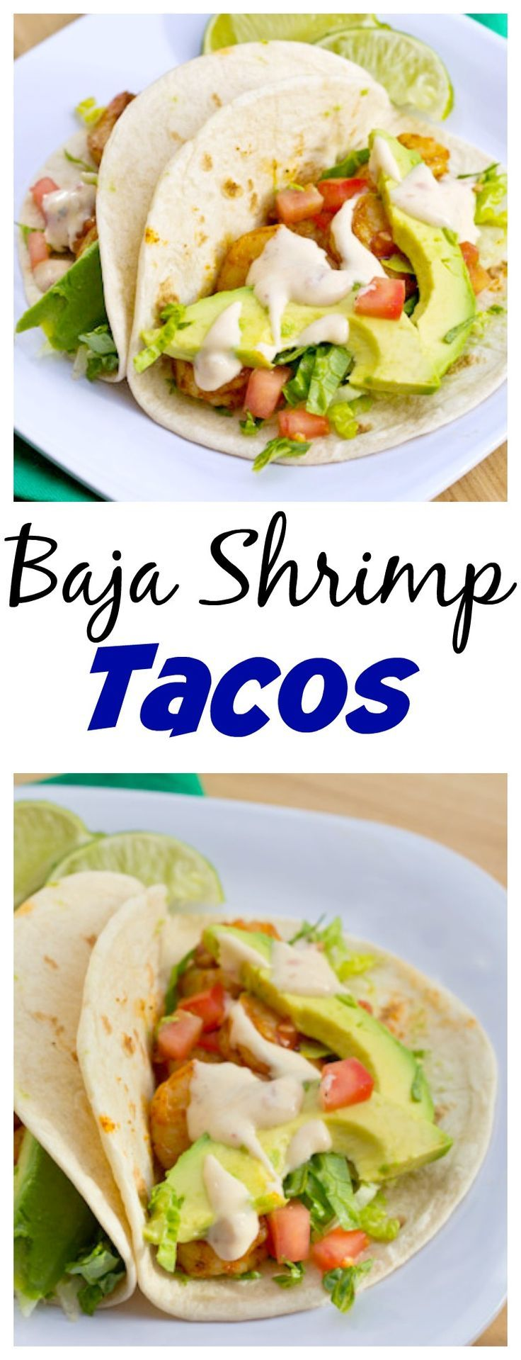 Based on Red Robin's Baja Shrimp Tacos - Slightly spicy sauteed shrimp with a lime and chipolte sauce. Mix up taco night with this recipe!