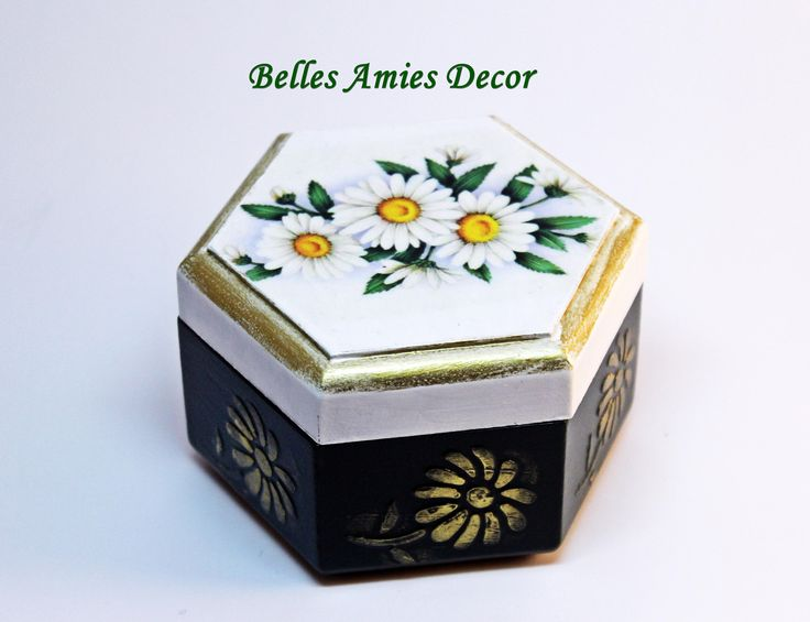 small jewelry box, gift for gorl, womens gift, daisy gift, little wooden box, cute gift, small gift, trinket box flowers, elegant gift woman by BellesAmiesDecor on Etsy