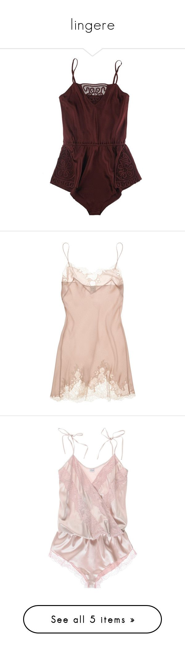 """""""lingere"""" by hallways ❤ liked on Polyvore featuring intimates, lingerie, underwear, dresses, tops, women, silk lingerie, see through lingerie, lacy lingerie and sheer lace lingerie"""