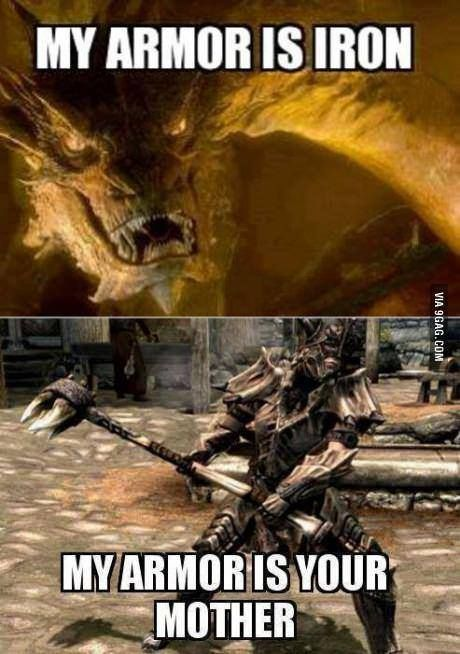 Dragonbone armor. Also, i always imagined a dragon born would kill Smaug =D
