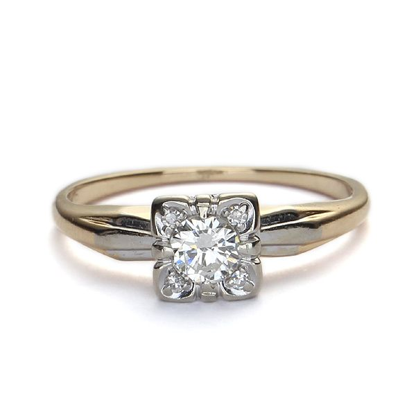Angara Milgrain Edges Princess Black Diamond Solitaire Ring(5.2mm) hMs4lYJ