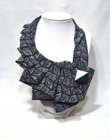 NEW  Indigo  Unique Upcycled Necktie Art Accessory by stylesbyana, $29.99