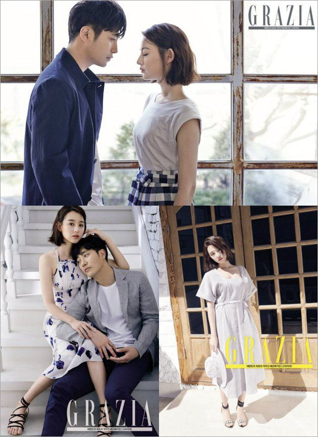 Jin Goo ND Kim Ji Won 'Descendants' Pose Mesra di Grazia Edisi April ...