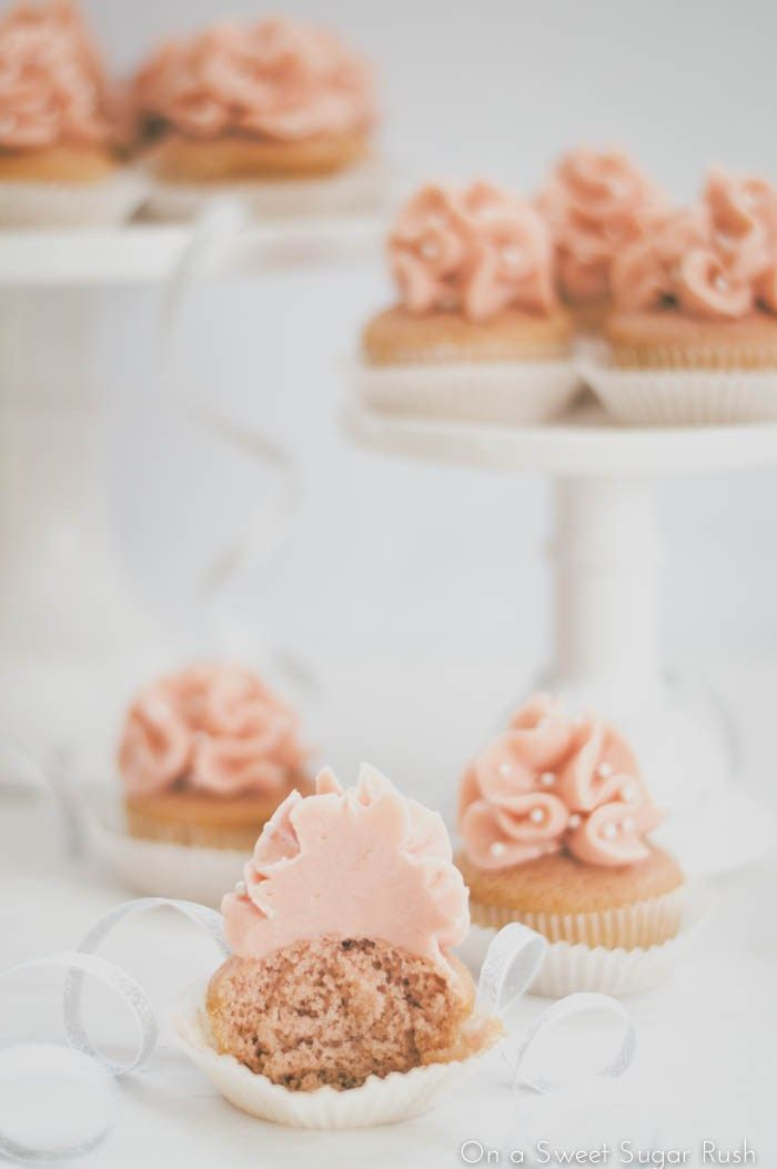 Champagne Cupcakes with Pink Champagne Italian Meringue Buttercream ...