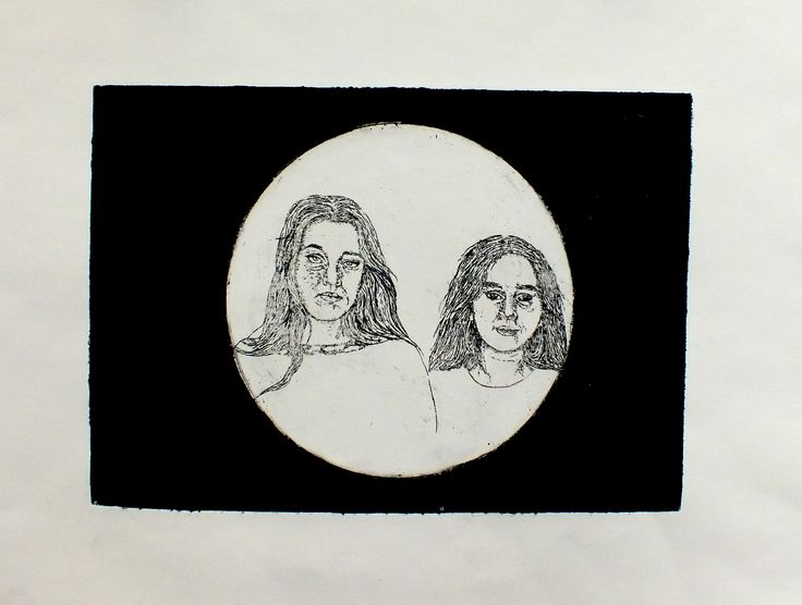 Claudia Y - Etching  1 of 3  Truro College A Level Fine Art - Coursework Show 2017