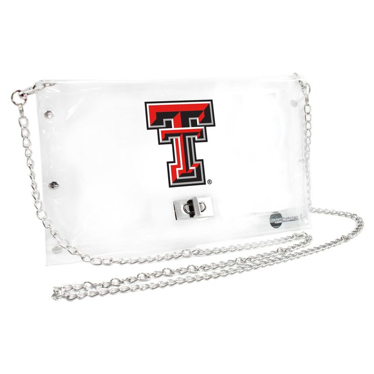 Texas Tech University Clear Envelope Purse - 101312-txtc - Ncaa College Texas Tech Ttu Red Raiders Purses Wristlets Totes
