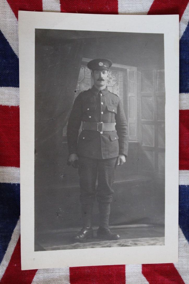 WW1 Hampshire Regiment Soldier Portrait Postcard, £4.50