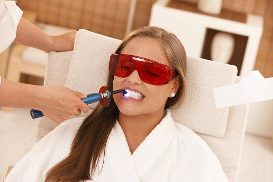 Laser Teeth Whitening to get rid of stained or discoloured teeth.  #LaserTeethWhitening #TeethWhitening #Dentist #CosmeticDentistry #TheDentalHub
