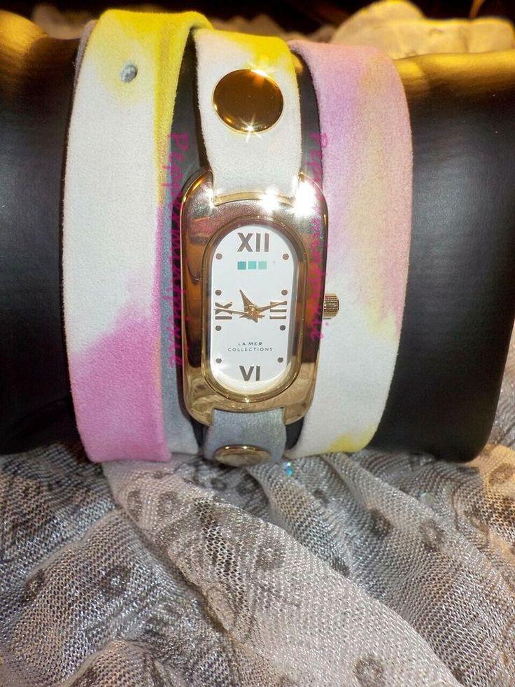 La Mer  Women Pastel Watercolor Soho Wrap Watch LMSOHO3002  Multti Color New Box #LaMer #WrapWatch