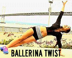 a-mazing ab/oblique burn and surprising fun!  ballerina twist