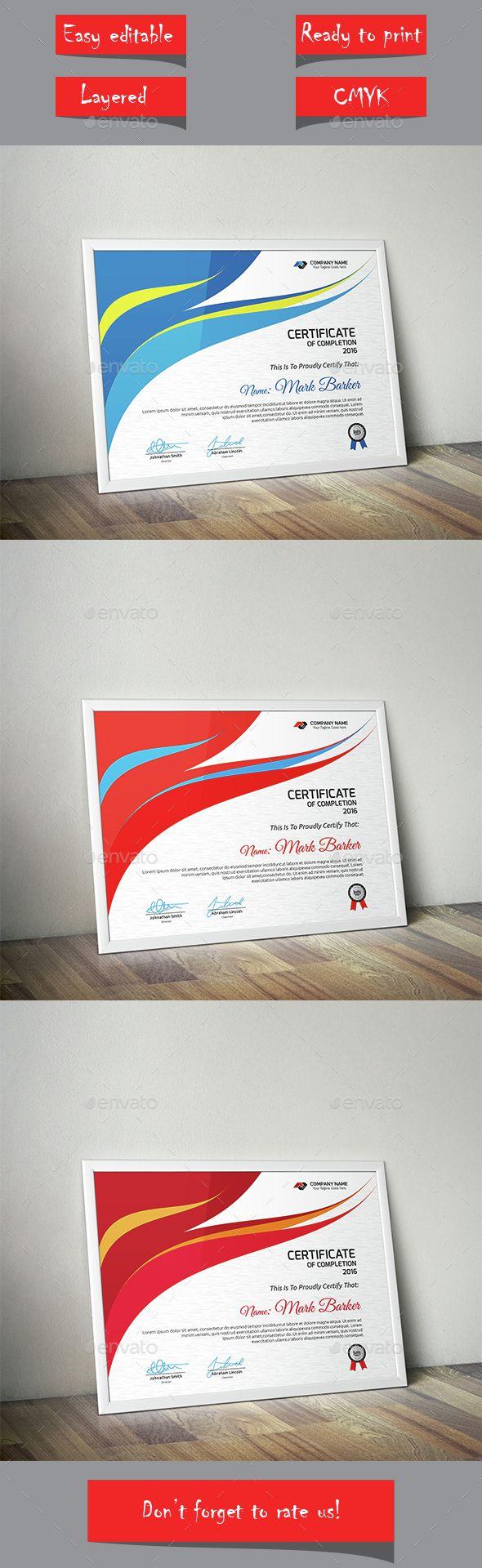 Certificate Template Vector EPS #design Download: http://graphicriver.net/item/certificate/14538075?ref=ksioks