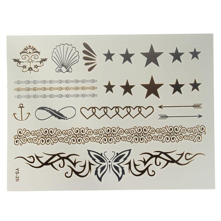 Metál tatoo matrica